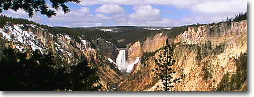 Lower Falls Yellowstone River -Yellowstone National Park