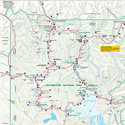 Yellowstone Park Maps - Yellowstone national park on map of us