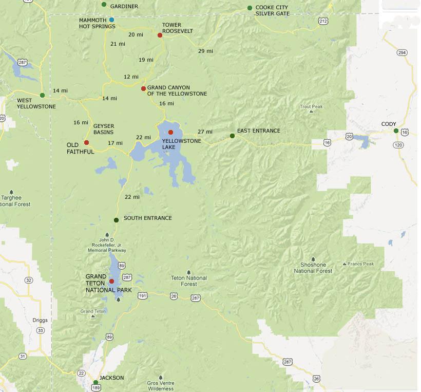 West Yellowstone Montana Map.Yellowstone Gateway Map