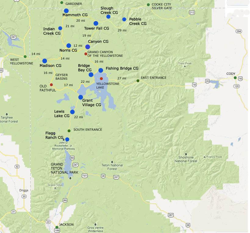 yellowstone madison campground map Yellowstone National Park Campgrounds yellowstone madison campground map